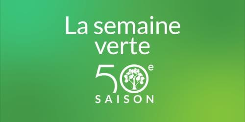 Le logo de la 50e saison. Il y a un arbre à l'intérieur du zéro du chiffre 50.