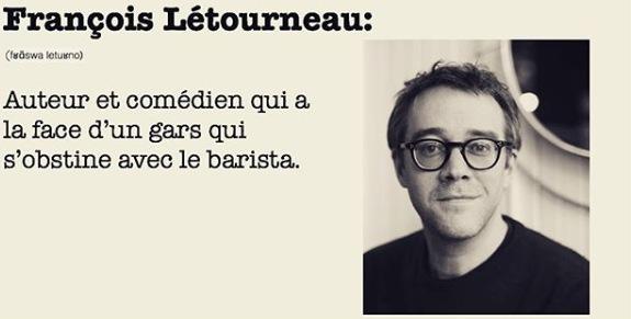 Auteur et comédien qui a la face d'un gars qui s'obstine avec le barista.