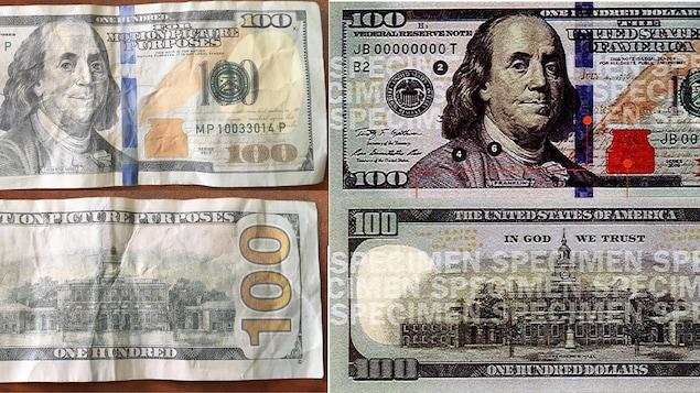 De faux billets de 100 $ américains en circulation à Québec