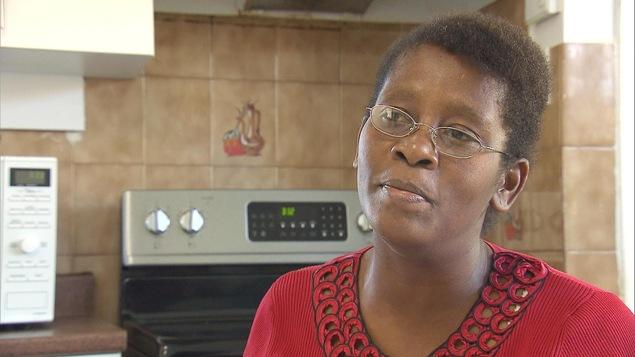 Magdella, une migrant haïtienne