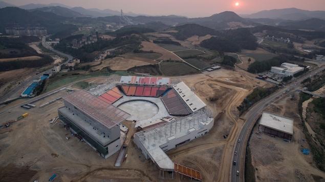 Le stade des Jeux de Pyeongchang terminé samedi