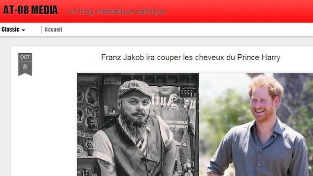 Un article de du blogue AT-08 MÉDIA sur le succès du barbier Franz Jakob