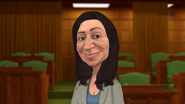 Martine Ouellet en personnage Laflaque