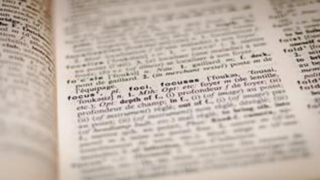 Zoom sur la page d'un livre