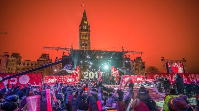 Un spectacle sur la colline du Parlement à Ottawa