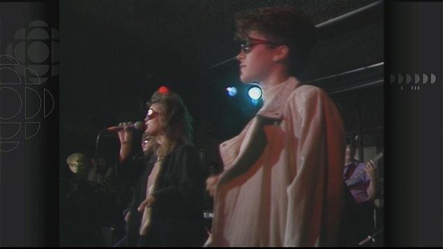 Marie-Claude McDonald et Joanne LaCoste ont participé en spectacle à la Chicane électrique en 1988.
