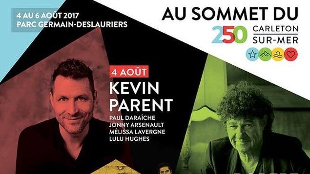Affiche des spectacles du 4 au 6 août à Carleton-sur-Mer