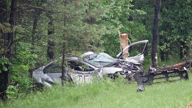 Un accident sur l'autoroute 410 à Sherbrooke