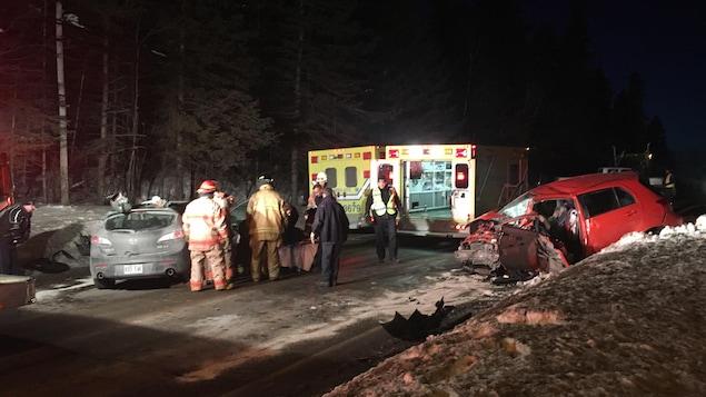 Les deux véhicules accidentés