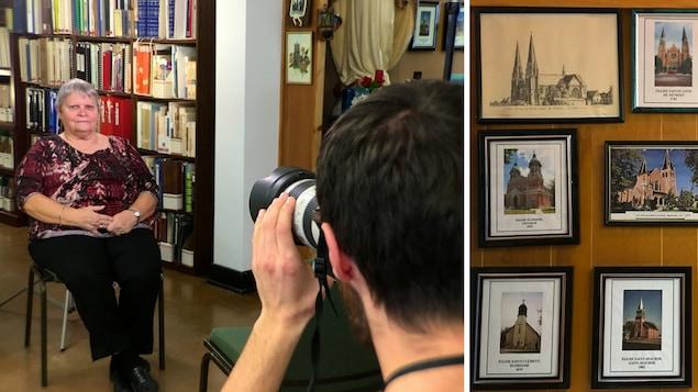 Photos d'Agathe et de tableaux avec des illustrations et photos d'églises.