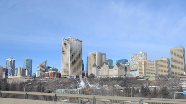 Vue sur la ville d'Edmonton en Alberta