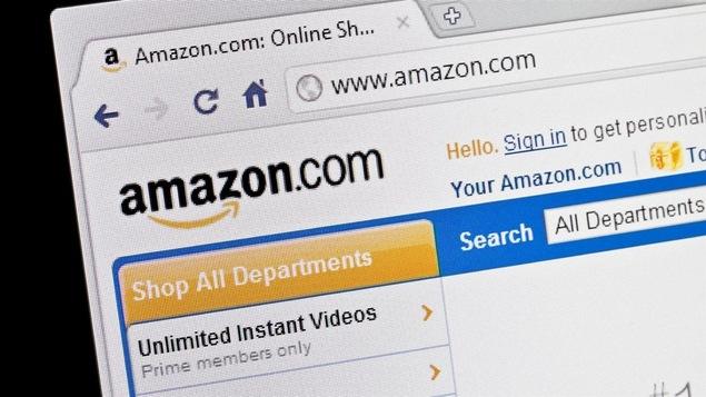 La page Internet d'Amazon