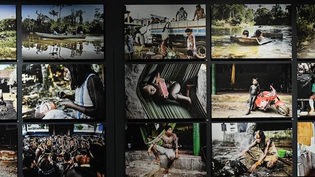 Aurélien Fontanet, un regard sur l'avenir des peuples de la forêt. Encouragé par l'ethnologue René Fuerst, Aurélien Fontanet accompagne le cinéaste Daniel Schweizer en Amazonie et en rapporte des images révélant tant les continuités que les ruptures culturelles – comme ici,chez les Kayapó Xikrin. Brésil, État du Pará, 2013-2014. Musée d'ethnographie de Genève, Suisse