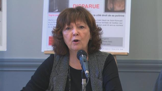 La mère de Marilyn Bergeron, Andrée Béchard