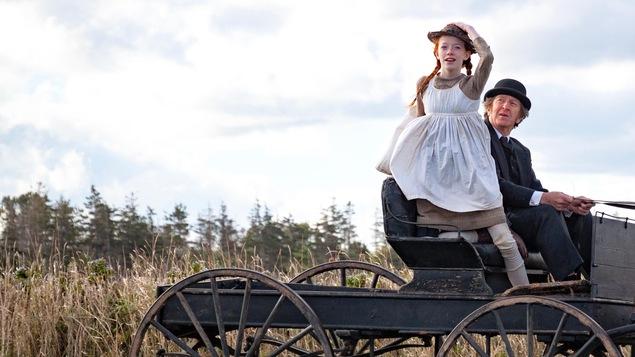 Photos des acteurs dans une charrette