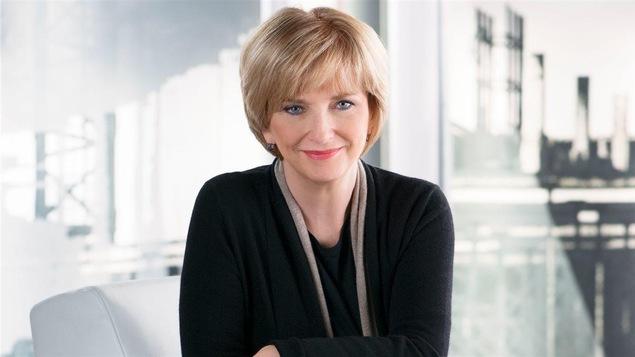 Anne-Marie Dussault, l'animatrice de l'émission « 24|60 » sur ICI Radio-Canada télé.