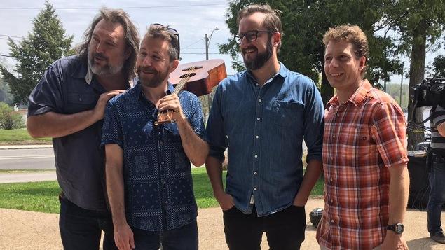 De gauche à droite : Bryan Perro, Jeannot Bournival , Rémi-Pierre Paquin et Frédéric Dion.
