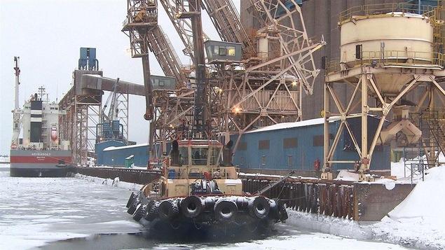 Le quai d'ArcelorMittal à Port-Cartier