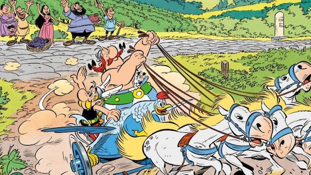 Astérix et Obélix vivent de nouvelles aventures dans la BD <i>Astérix et et la Transitalique</i>, qui paraîtra l'automne prochain.