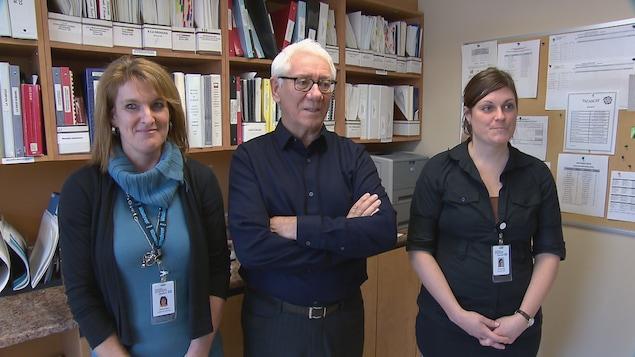 Johanne Baril, Jean-Bernard Pocreau et Carolyne Côté sont parmi les premiers intervenants sociaux qui ont réconforté les témoins de la fusillade