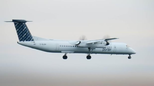 Un avion de la compagnie Porter Airlines