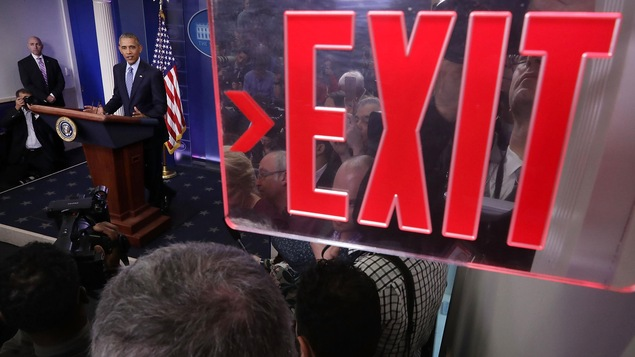 Le président américain Barack Obama répond aux questions de la presse pour une dernière fois.