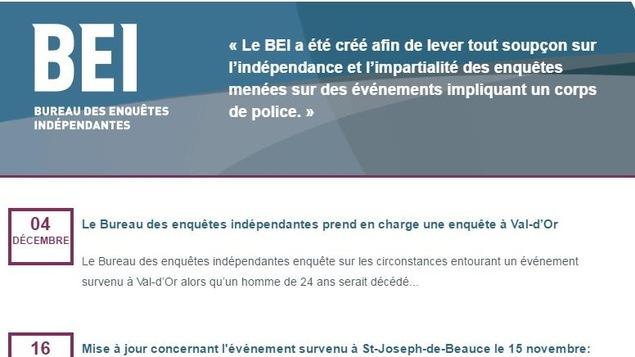 Le Bureau des enquêtes indépendantes appelé à Val-d'Or