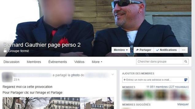 Page Facebook de Bernard Gauthier