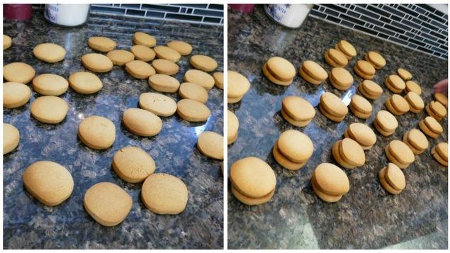 Laisser refroidir les biscuits.
