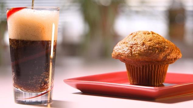 Le muffin au son de Tim Hortons contient 36 grammes de sucre, soit la même quantité retrouvée dans une boisson gazeuse.