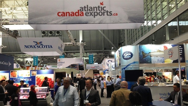 Des kiosques au salon Seafood Expo North America