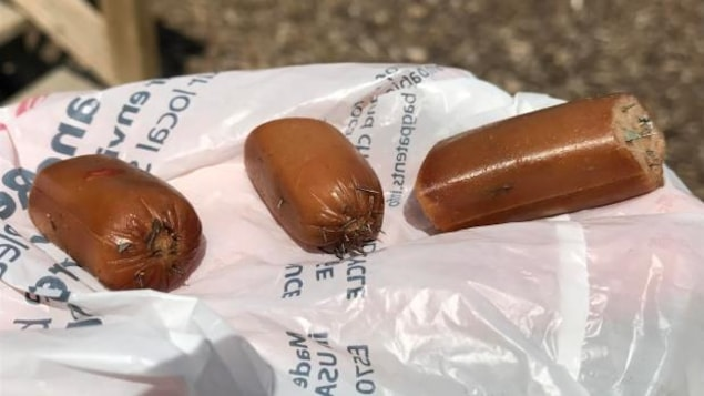 Emma Medeiros estime qu'il y avait environ 15 fragments de lame de rasoir dans les bouts saucisses.