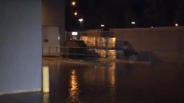 Le bris d'aqueduc est survenu jeudi soir dans le secteur de Gatinea