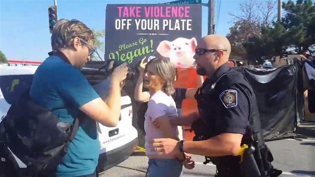 Anita Krajnc a été arrêtée à Burlington le 5 octobre 2016..