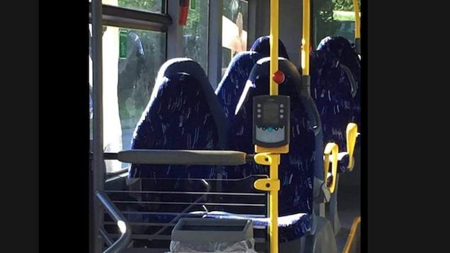Ils confondent des sièges de bus avec des femmes en burqa
