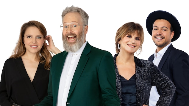 Montage photo montrant les 4 artistes qui sourient.
