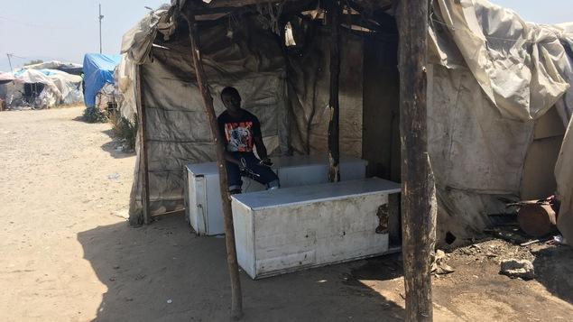 Camp de migrants à Polistena, dans le sud de la Calabre