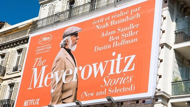 Une affiche du film de Netflix « The Meyerowitz Stories » à Cannes