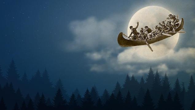 Image-titre de la section spéciale Canoë Volant : vivez la légende, inspirée de la légende de la chasse-galerie.