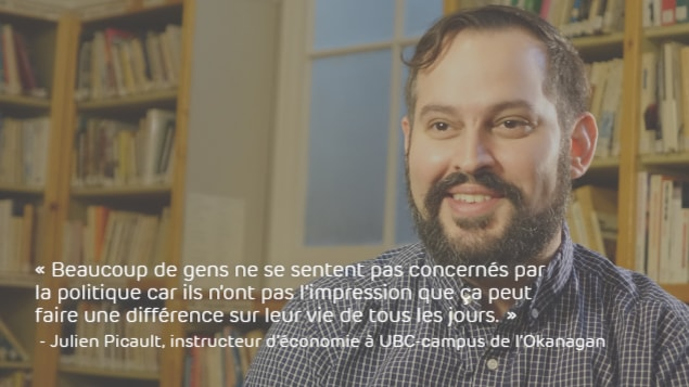 Julien Picault : «Il y a beaucoup de gens qui ne se sentent pas nécessairement concernés par la politique parce qu'ils n'ont pas l'impression que ça peut faire une différence sur leur vie de tous les jours.»