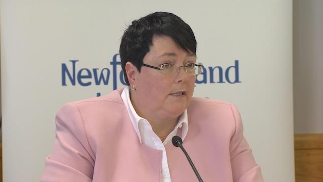 La ministre en conférence de presse