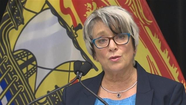 La ministre des Finances Cathy Rogers