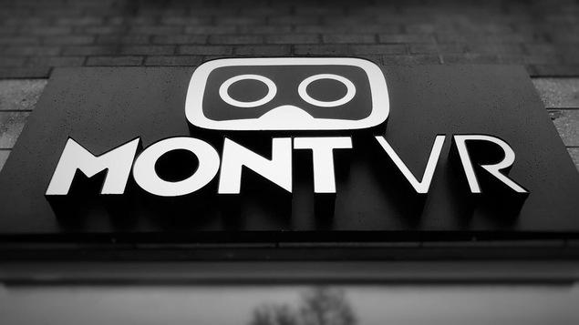 La devanture du nouveau centre de réalité virtuelle MontVR à Montréal