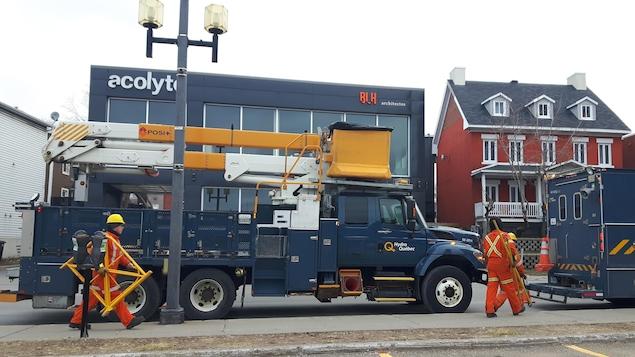 Camions d'Hydro-Québec