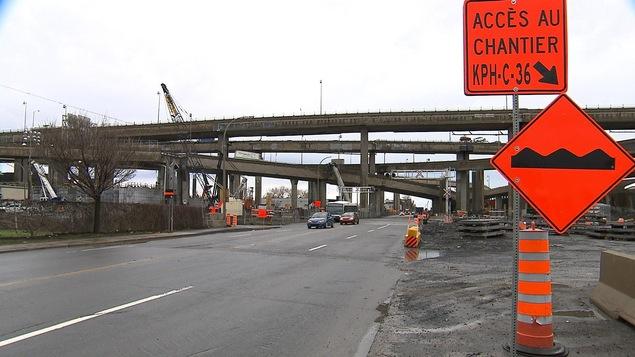 Le chantier de l'échangeur Turcot, à Montréal