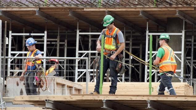 Un chantier de construction à Montréal