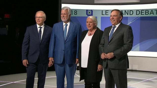 Les chefs des principaux partis