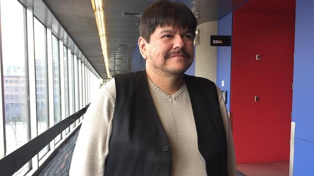 Christian Coocoo, coordonnateur des services culturels au Conseil de la Nation Atikamekw