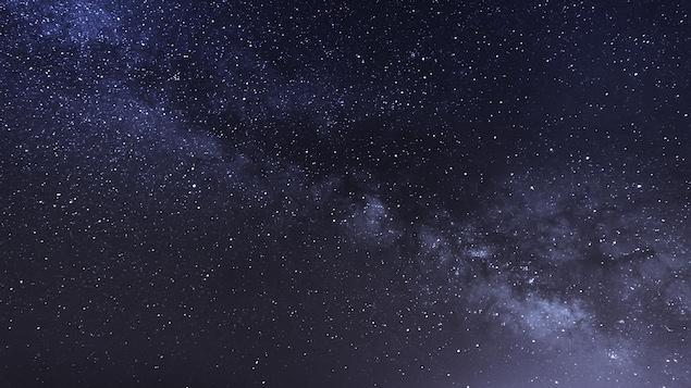 La Voie lactée vue du sol.