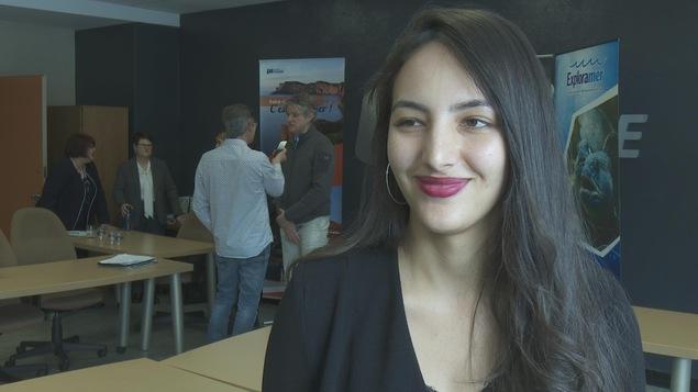 Claire Perrot, étudiante réunionnaise à la Techniques de tourisme au Cégep de Matane